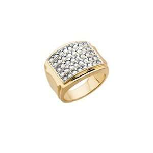 ct. tw. Diamond Fashion Ring in 10K Yellow Gold (Size 10.5) Jewelry