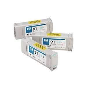 HP HEW C9486A C9486A (HP 91) INK, LIGHT CYAN, 3/PACK Electronics