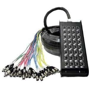 Seismic Audio   24 Channel XLR SNAKE CABLE 100 long   24