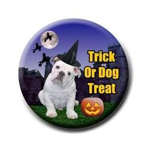 English Bulldog Halloween Pin Badge Button No 3