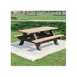 Westin 6 FT Recycled Picnic Table Patio, Lawn & Garden