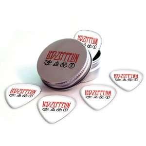 Led Zeppelin Logo Electric Guitar Picks X 5 (2 Sided Print