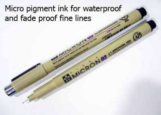 Needle Point Pen Waterproof 0.05 / 0.1 / 2 / 3 / 4 / 5 / 8 mm. Fine
