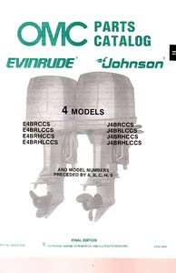 1987 Evinrude/Johnson 4 HP Outboard Motor Parts Catalog