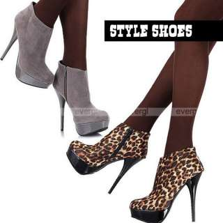 Fashion Sexy Vogue Women Lady Platform Pump High Heels Ankle Booties