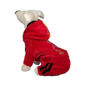 Dog and Cat Warm High Quality PAJAMAS   Small   Red with