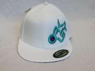 OAKLEY Sport Flex Fit Cap S/M L/XL Black White w/ logo