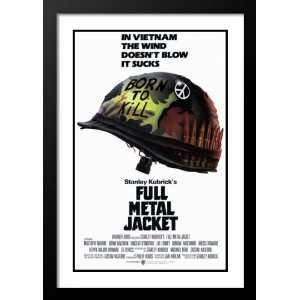 Full Metal Jacket Framed and Double Matted 20x26 Movie