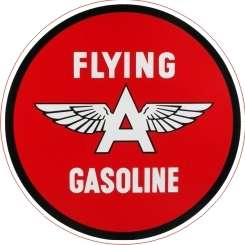 Vintage Flying A Gasoline Gas Oil Decal   The Best