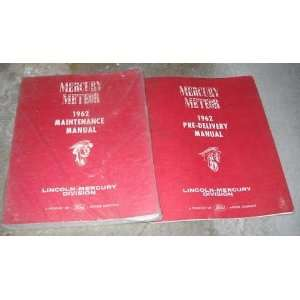 1962 Mercury Meteor Service Shop Repair Manual Set OEM