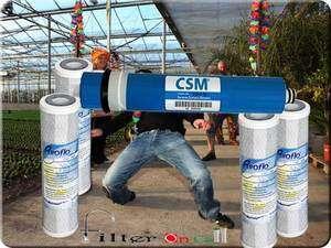 GE FX12P FX12M Compatible 50 GPD membrane and 4 Pre & Post Filters