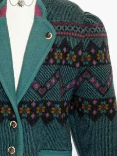 Geiger Austria Wool Sweater Coat Jacket Size 36 Us 6