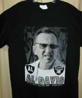 AL DAVIS TRIBUTE SHIRT OAKLAND RAIDERS BLACK SHIRT AL DAVIS MEMORIAL
