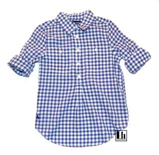 NWT Ralph Lauren Girls Blue Gingham Pullover Shirt