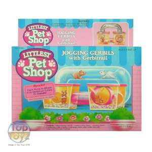 Littlest Pet Shop 1992   Jogging Gerbils with Gerbitrail: Toys & Games