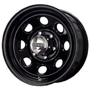 Unique Wheel 297 Black Wheel (15x8/6x139.7mm) Automotive