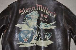AVIREX Leather Jacket Type A 2/Glenn Millers AAF Band