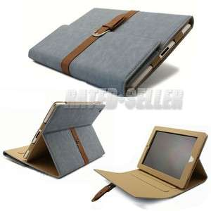 Smart Stand Leather Case Cover For iPad 2 the new iPad 3 3rd