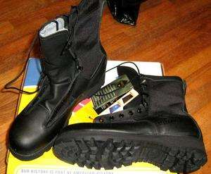 MILITARY ICB BELLEVILLE BLACK LEATHER GORE TEX BOOTS NEW NARROW ONLY
