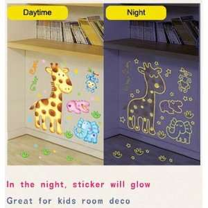 Glow in the dark Friends Of Jungle Deco Wall Sticker