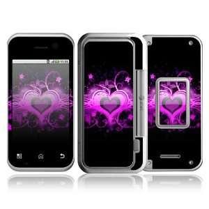 Motorola Backflip Decal Skin   Glowing Love Heart