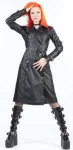 Classics womens trenchcoat coat XL goth gothic punk vegi PVC