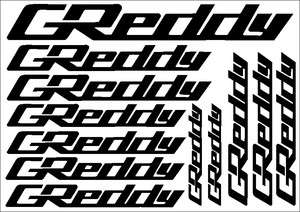 GReddy JDM Cut Vinyl Decal Sticker Sheet CGR0003S