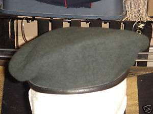 Canadian Forces Green Infantry Beret Leather 7 5/8
