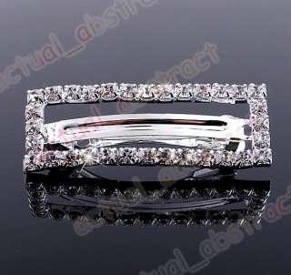 Free Czech rhinestone Tiara hair pin wholesale12pcs