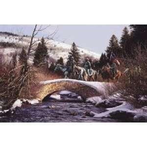John Paul Strain   Lions in Winter Executive Canvas Giclee