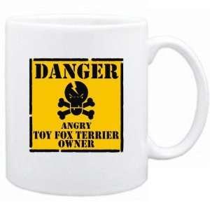 New  Danger  Angry Toy Fox Terrier Owner  Mug Dog