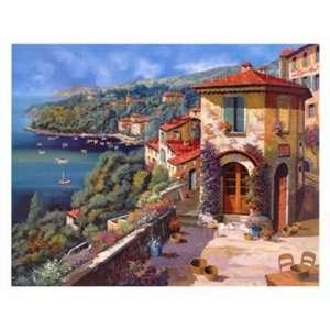 Il Villaggio Sulla Costa by Guido Borelli 30x24 Home