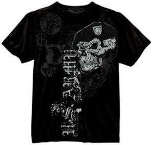 NEW Black Ink US Army Skull Beret Military Shirt CHOICE