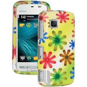 New High Quality Amzer Limited Edition Flower Snap On Hard Case Yellow