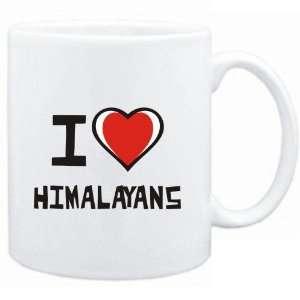 Mug White I love Himalayans  Cats