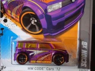 Hot Wheels 2012 Code Cars Series Purple Scion xB #230