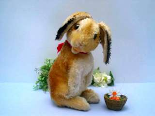 Wonderful big STEIFF RABBIT MANNI, 30 cm with button
