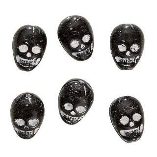 White Skull Pony Beads, 1/2 Lb (Bag of 450): Toys & Games