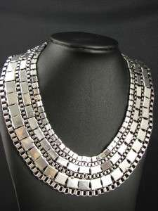 Miao Tibet Style Tibetan Silver Necklace Chain MS390