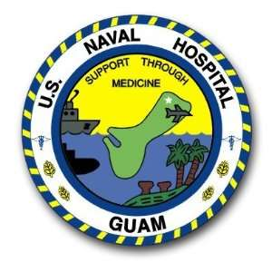 US Navy Guam Naval Hospital Decal Sticker 3.8 Everything