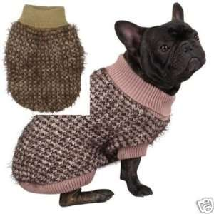Zack & Zoey Mixed Yarn Chunky Knit Sweater BROWN EX SM