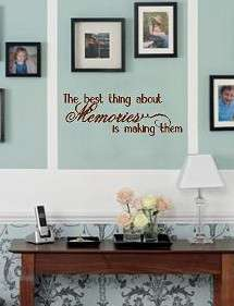 Memories Vinyl lettering wall art words decals quotes home bedroom