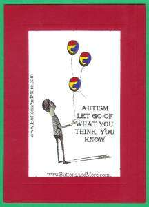 Autism Awareness Greeting Card   LET GO OF WHAT YOU