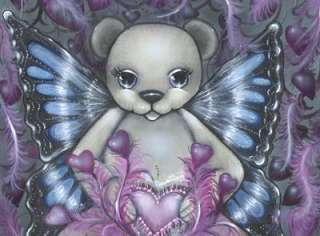 ARTIST TEDDY BEAR ART ORIGINAL KIMBEARLYS SIGNED PRINT