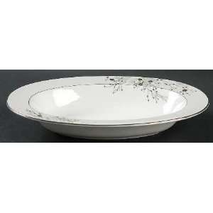 Mikasa Imperial Blossom 11 Oval Vegetable Bowl, Fine China Dinnerware