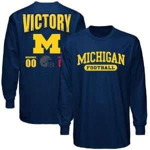 Michigan Wolverines vs. Ohio State Buckeyes Navy Blue Victory Long