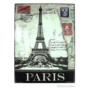 13 Paris Eiffel Tower Post Card Metal Wall Sign Plaque