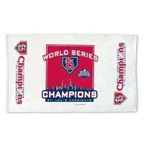 St Louis Cardinals World Series Champions Towels Bench