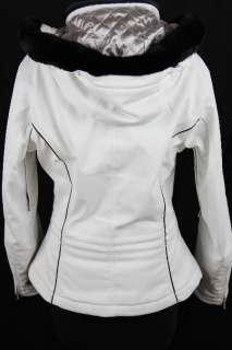 Womens New SPYDER White Black Hooded THINSULATE LINED SKI COAT JACKET