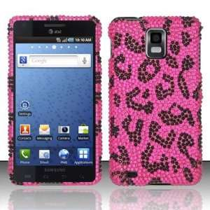 PINK LEOPARD Hard Plastic Rhinestone Bling Case for Samsung Infuse 4G